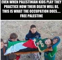 How sad is this ... can you imagine your child reenacting their death? ... kd   Help for free palestine
