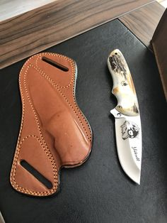 Cool Knives, Knives And Swords, Knife Sheath, Leather Pattern, Leather Projects, Custom Knives, New Hobbies, Knife Making, Tactical Gear
