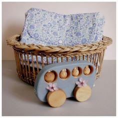 Tapis à langer nomade - Liberty d'Anjo bleu - Retrouvez les différents coloris sur suzanne-universenfantin.com