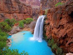 Havasu Falls in Grand Canyon AZ