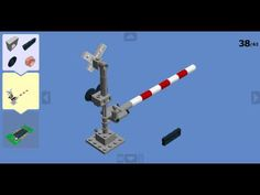 LEGO 2-Track Railroad Crossing Tutorial - How To Build A 2-Track Railroad Crossing! - YouTube