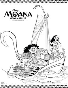 Are you anticipating the arrival of Disney's Moana as we are? Then you will love these #Moana coloring pages and Official Trailer, Provided by @Disney; they are absolutely adorable and free! via @militaryfamof8