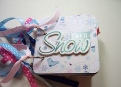 Let It Snow Mini Album, Mini Scrapbook, Brag Book, Mini Photo Album, Premade Album, Snow, Winter Album, Coaster Album, 4x4, Snow Fun, by HampshireRose on Etsy