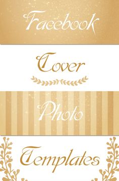 These Posh Facebook Cover Photo Templates are so pretty! Such a fun way to dress up your Facebook page :D