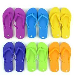Lot of 24 Pairs Assorted Sizes Black Womens Wholesale Bulk Flip Flops
