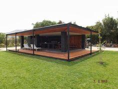 Pergola Against House Info: 4430440577 Pergola With Roof, Patio Roof, Pergola Patio, Gazebo, Surf House, Patio Flooring, Home Building Design, Backyard Retreat, Outdoor Living