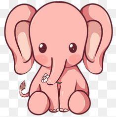 Cute cartoon animals, cute elephant cartoon, anime animals, cute an Cute Elephant Drawing, Elephant Doodle, Cute Elephant Cartoon, Cute Cartoon Animals, Anime Animals, Cute Animal Drawings, Pink Elephant, Cute Drawings, Cute Animals