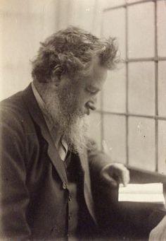 #William_Morris, photograph by Frederick Hollyer, 1884, platinum print. Museum no. 7716-1938, © Victoria and Albert Museum, London