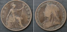 1897 Victorian penny