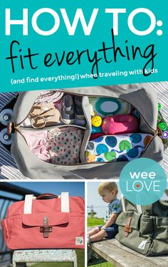 A chic travel bag that's designed to fit -- and organize -- everything you need to pack for kids.