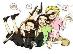 Mihawk, Crocodile and Doflamingo One Piece