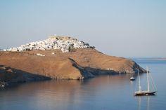 Astypalaia, early in the morning Corfu, Crete, Santorini Villas, Myconos, Greek Islands, Holiday Destinations, Travel Ideas, Castles, Countryside