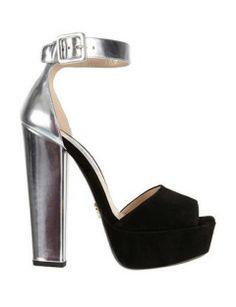 PRADA Ankle Strap Platform Sandal