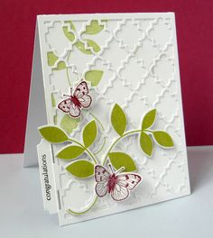 Stamping & Sharing - Another Quatrefoil card.