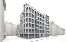 3d Modelle, Multi Story Building, House, Scene, Vorlage, Architecture, Home, Haus, Houses