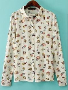 Shop Owl Printing Turn-down Collar Long Sleeve Casual Blouse online. TrendyFine offers Owl Printing Turn-down Collar Long Sleeve Casual Blouse & more to fit your fashionable needs. Free Shipping Worldwide!