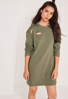 We're giving grunge an update and this sweatshirt dress is a sure fire way to…