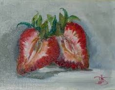 Image result for strawberry paintings