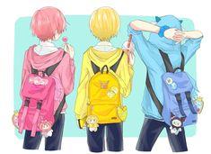 Friend Anime, Anime Best Friends, Manga Cute, Cute Anime Boy, Anime Style, Cute Characters, Anime Characters, Kawaii Anime, My Little Pony Unicorn