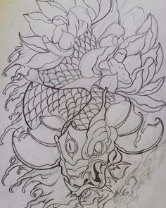전남 광주 Instagram: mp69 tattoo  Dragonkoi tattoo design