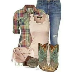 I wouldn't wear the boots or use the purse but I like everything else