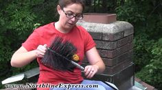 DIY Chimney Cleaning using the Brush & Rod Top Down Method - YouTube
