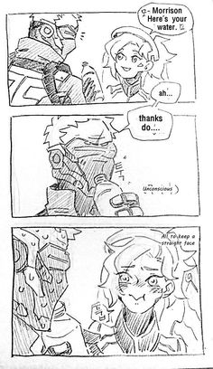 Soldier Jack Morrison, Mercy << You're lucky Reyes didn't see that Jack Overwatch Funny Comic, Overwatch Memes, Overwatch Fan Art, Overwatch Pictures, Overwatch Reaper, Overwatch Hanzo, Jack Morrison, Family Meme, Funny Games