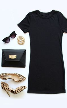 Animal Shoes and Black Dress: Sometimes the shoe really does make the outfit! Fashion for the Modern Mom