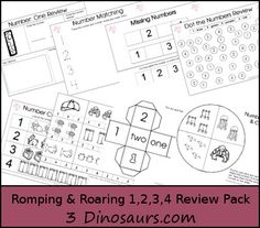 Romping & Roaring Number 1,2,3,4 Review Pack - 3Dinosaurs.com