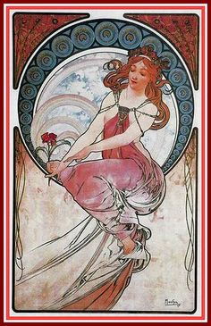 Mucha Painting 1898 by mpt.1607, via Flickr