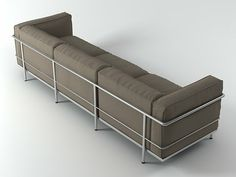 Cassina LC3 3-Seater 3d model |  Le Corbusier