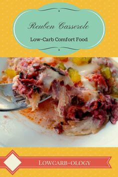Reuben Casserole Is Low Carb Comfort Food Fast Reuben Casserole, Keto Casserole, Casserole Recipes, Comfort Food, Low Carb Casseroles, Chipotle, Low Carb Diet, Paleo Diet, Low Carb Recipes
