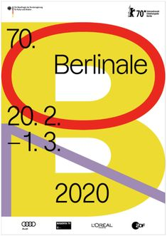 The 2020 Berlinale which marks the edition of the Berlin International Film Festival unveiled the festival poster which shines a light on the anniversary. Hip Hop Festival, Berlin Film Festival, Art Festival, Cannes Film Festival, Food Festival, Audi, Food Film, 70th Anniversary, Cinema Posters
