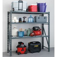 costco newage products pro series heavy duty shelf grey