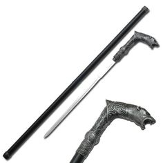 "walking canes with knife | Bear Handle "" Walking Cane Sword"