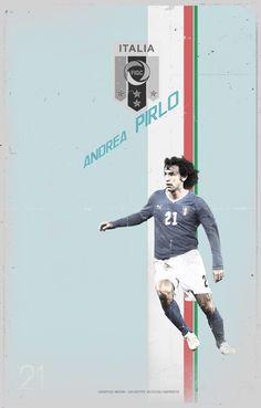 EURO 2012 football player postcard. by giuseppe vecchio barbieri, via Behance