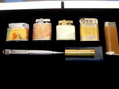 Vintage Lighter Lot Empire Indian Head - Writing Pen - Lipstick - and Collectible Knives, Writing Pens, Indian Head, Vintage Lighting, Lighter, Empire, Lipstick, Ebay, Lipsticks