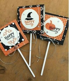 September Paper Pumpkin: Wickedly Sweet Treat Autumn is in the air at Stampin' Up! and we are celebrating with some fun, fall-inspired projects from Paper Pumpkin . Halloween Treat Holders, Halloween Treat Bags, Halloween Tags, Theme Halloween, Halloween Goodies, Holidays Halloween, Fall Paper Crafts, Halloween Paper Crafts, Candy Crafts