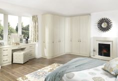 Darlington, Bespoke fitted bedrooms, Brian Clark Home Improvements, Bishop Auckl. Fitted Bedroom Furniture, Fitted Bedrooms, Built In Furniture, Dressing Table In Bay Window, Built In Dressing Table, Wardrobe Doors, Bedroom Wardrobe, Built In Wardrobe, Master Bedroom
