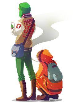 Kyle's jacket 👀 South Park Anime, South Park Fanart, Kyle South Park, Trey Parker, Kyle Broflovski, Stan Marsh, Cartoon Drawings, 3 Arts, Animation