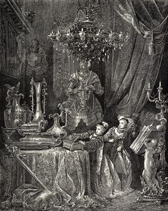 Bluebeard by Gustave Doré History Of Illustration, Illustrations, Illustration Art, Gustave Dore, Charles Perrault, Fable, Hades And Persephone, Blue Fairy, Lost Art
