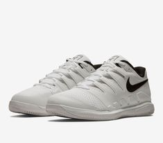 super popular aae3c fc57d Nike Air Zoom Vapor X HC Wide Mens Tennis Shoes 10 White Black Grey AH9066  101
