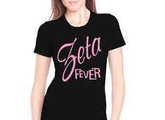 "Sorority Rush Shirts ""Sorority Fever"" #Greek #Sorority #Clothing #Rush #Recruitment #BidDay #Zeta #ZetaPhiBeta"