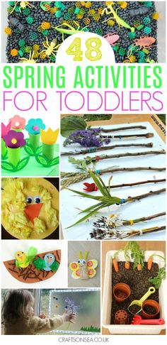 Need some inspiration? All the spring activities for toddlers you need in one place with ideas for crafts, sensory play, art projects and easy science experiments. Tried and tested easy ideas from parents that are perfect for having fun at home or in an early years environment. #spring #kidsactivities #kidscraft #toddler