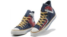0a39597de8d4 Very Cheap Converse All Star Shoes 2013 High Dark Blue Yellow Red White  Sale Outlet(Chalcedony Pendant and Volt Lace)