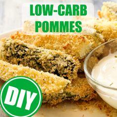 Low-Carb-Pommes aus Zucchini, Kohlrabi und Co. werden nun im heißen Ofen gebacken!  http://eatsmarter.de/ernaehrung/ernaehrungsarten/low-carb-pommes-selber-machen