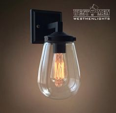 Westmenlights Clear Glass Grape Wall lamp Sconce Bubble Light Bedroom Fixture Contemporary ORB