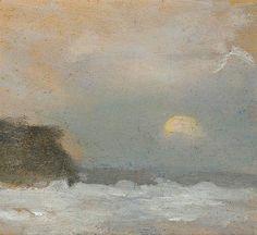 Clarice Beckett - Moonrise, Beaumaris