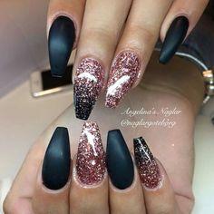 Coffin nails Black matt
