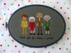 stitched family portrait - great gift idea